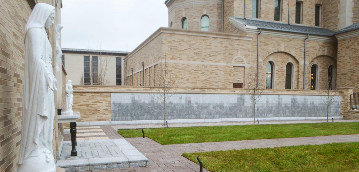 Custom Exterior Wall Columbaria - Catholic Church