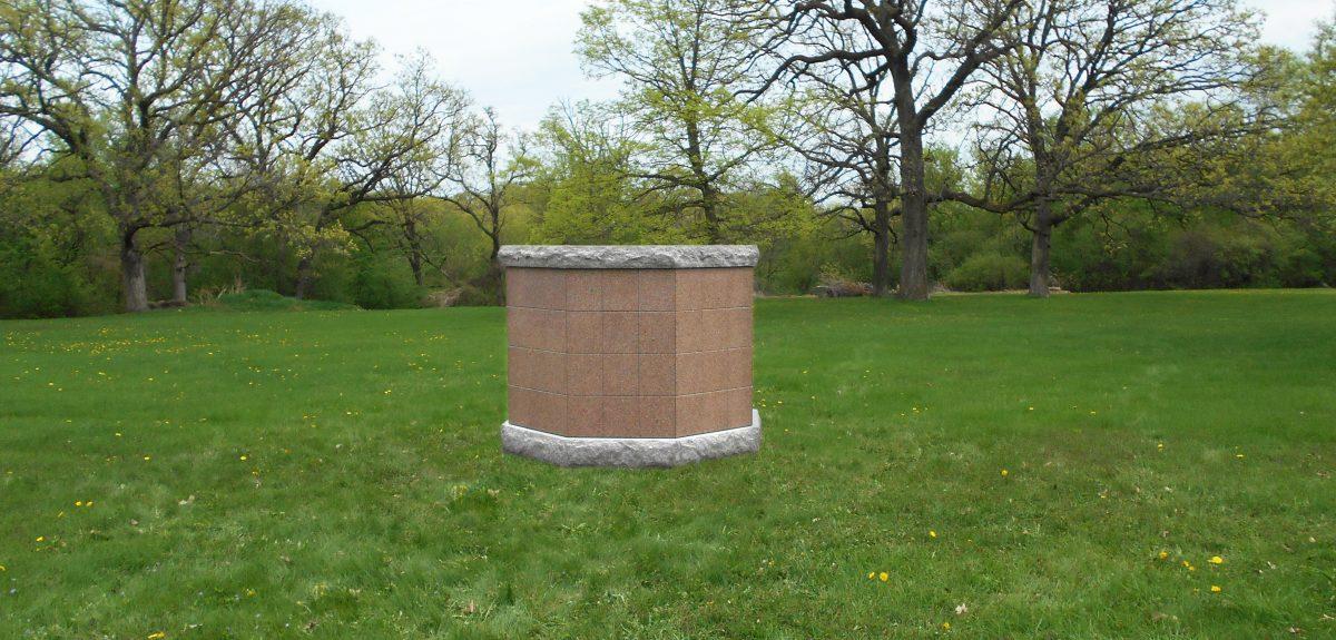 Exterior Pre-Assembled Ely Columbarium - Cemetery
