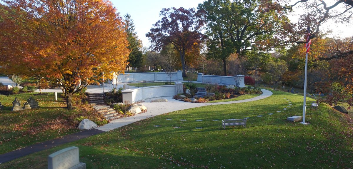Lowell, MA, Custom Ext Cemetery Curved Wall