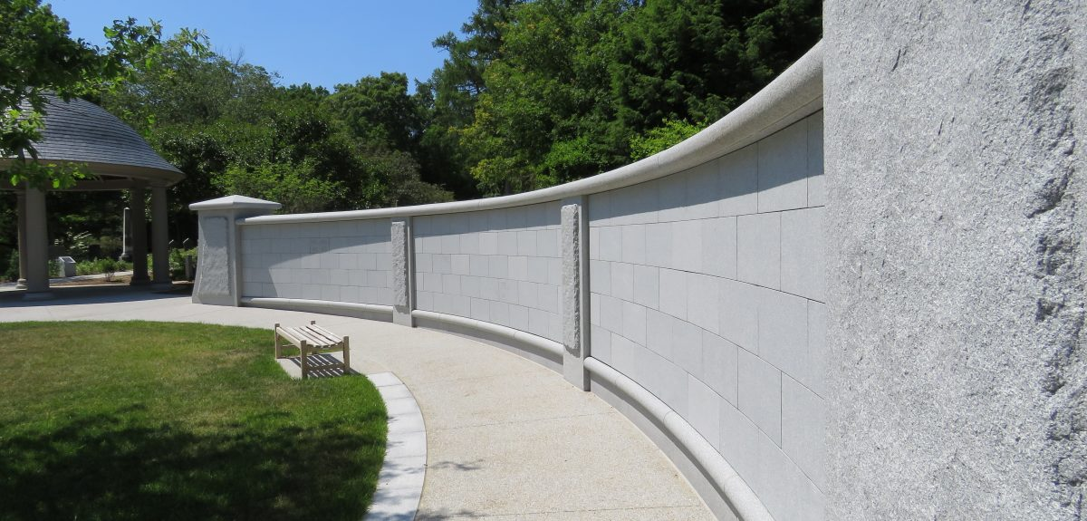 Lowell, MA, Custom Ext Cemetery Curved Wall 2