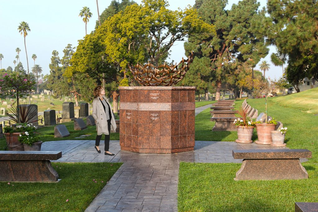 Ely Ossuarium™ with Sculpture in Inglewood, CA