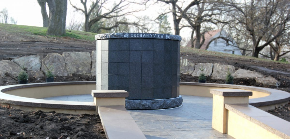 A Roselawn Cemetery High York preassembled columbarium