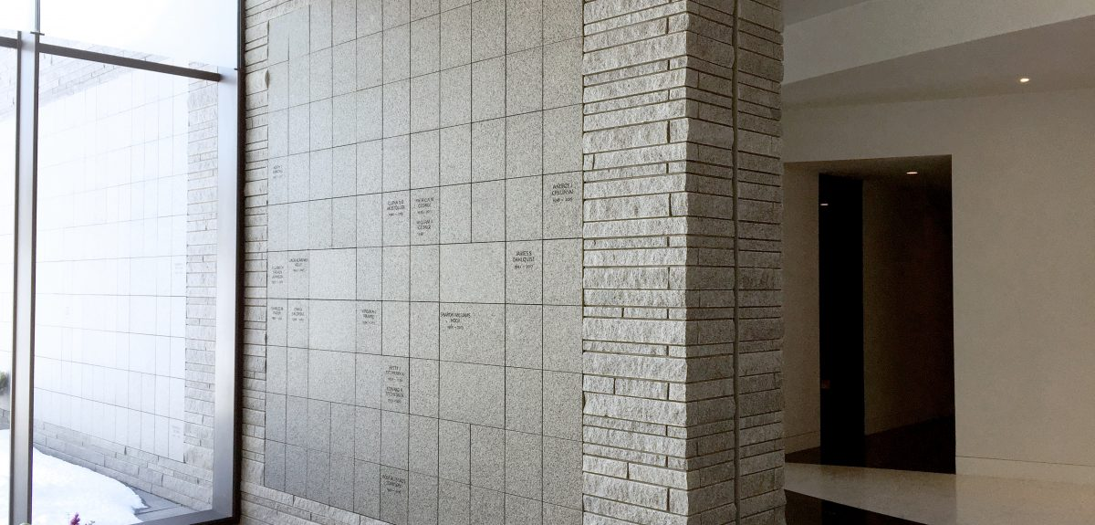 Lakewood Cemetery Mausoleum Custom Interior Wall Columbarium