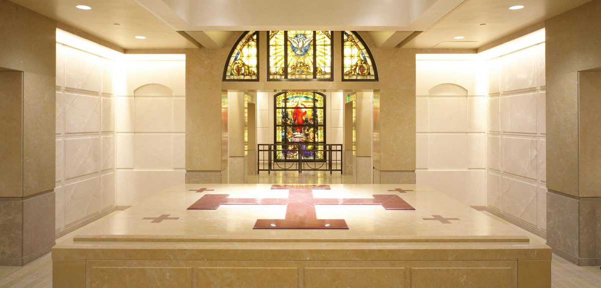 Los Angeles, CA - Interior Church Custom Wall Columbaria