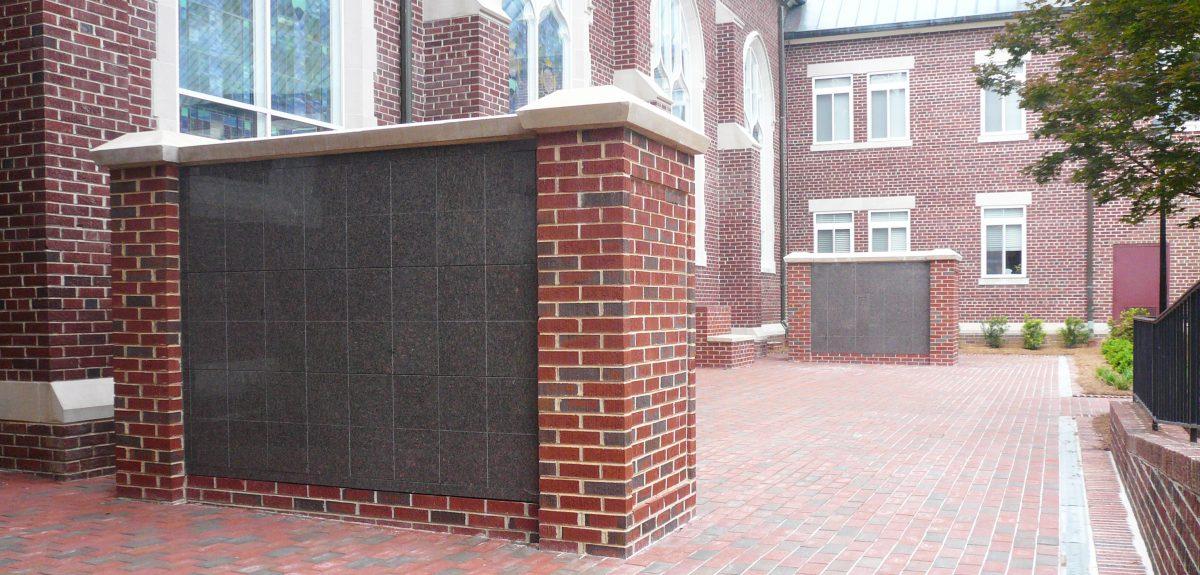 custom exterior church columbaria