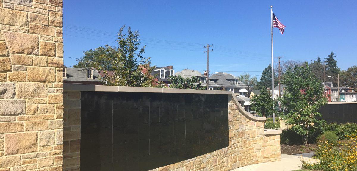 Lancaster PA Custom Exterior Curved Wall Columbarium