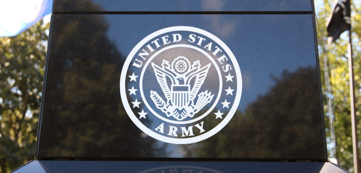 Veterans Ossuarium Memorial Army Emblem
