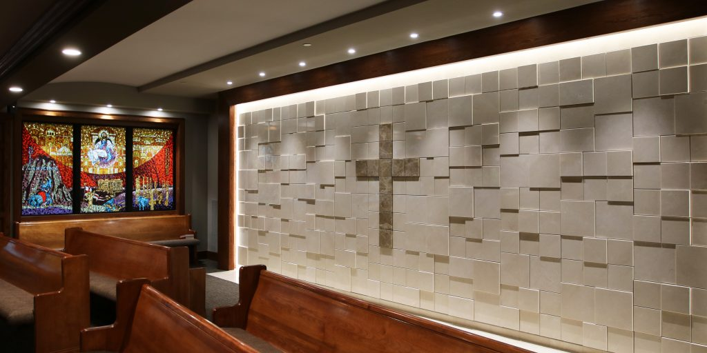 Custom Interior Sculpted Wall Columbaria - Church