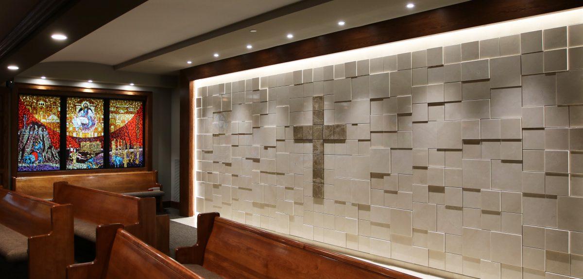Custom Interior Sculpted Wall Columbaria - Church