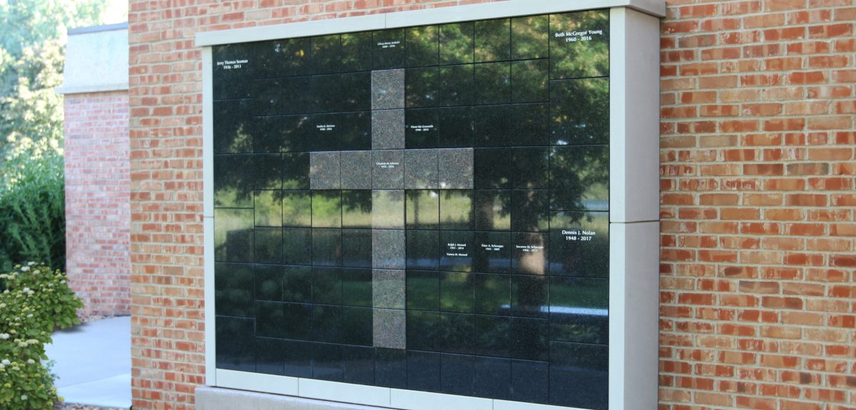 Custom Exterior Single Sided Wall Columbarium - Church