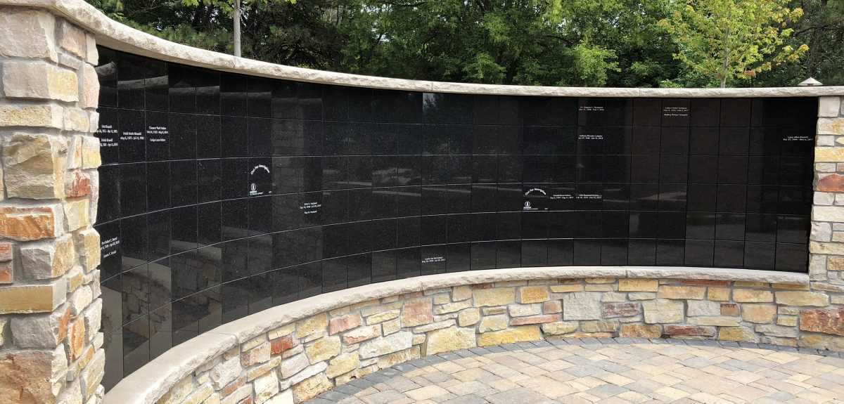Custom Exterior Freestanding Wall Columbarium - Church