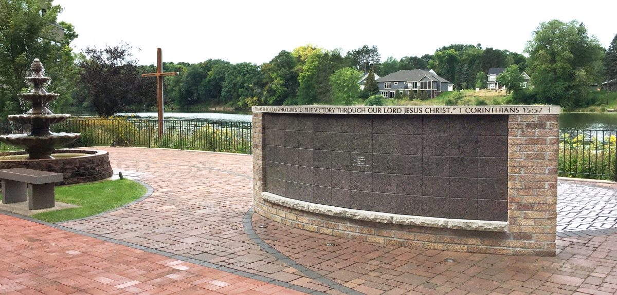 Exterior Curved Wall Columbarium - Church