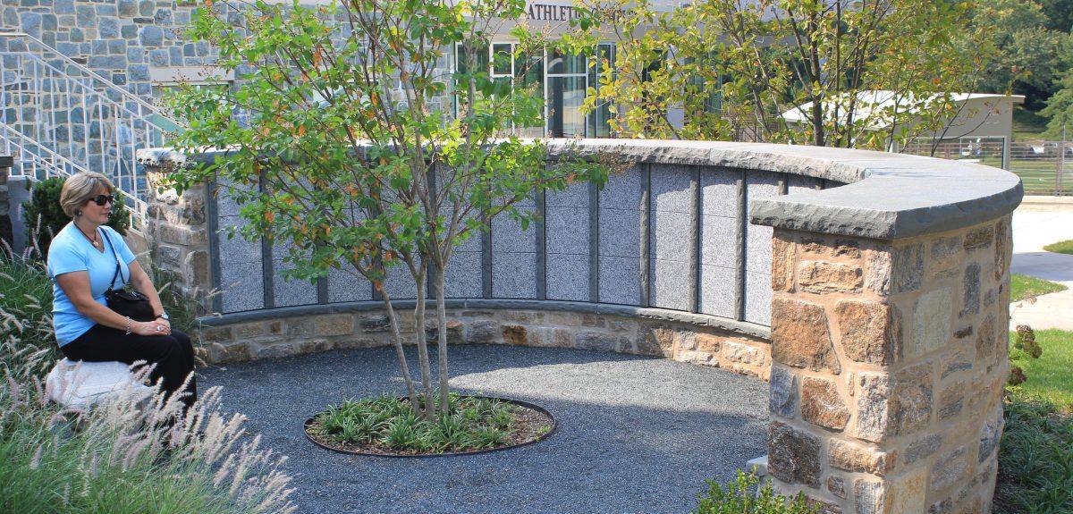 Custom Exterior Wall Columbaria - School