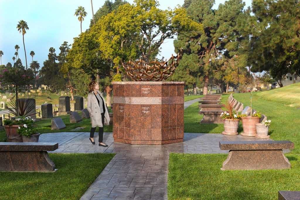 Ely Ossuarium® with Sculpture in Inglewood, CA