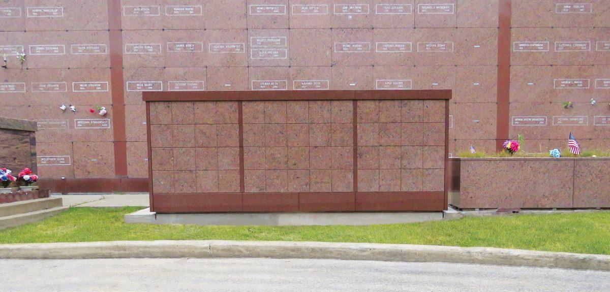 Exterior Pre-Assembled Rectangular Wall Columbaria - Cemetery