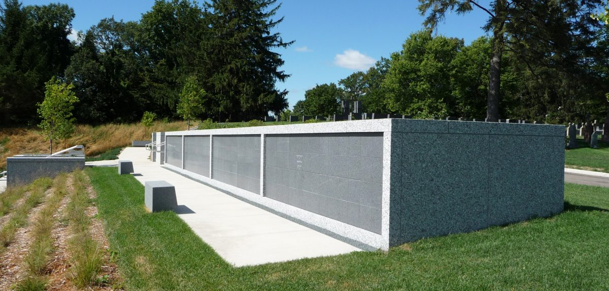 Custom Exterior Wall Columbarium - Higher Education