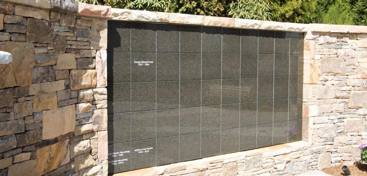 Custom Exterior Wall Columbaria - Catholic Church