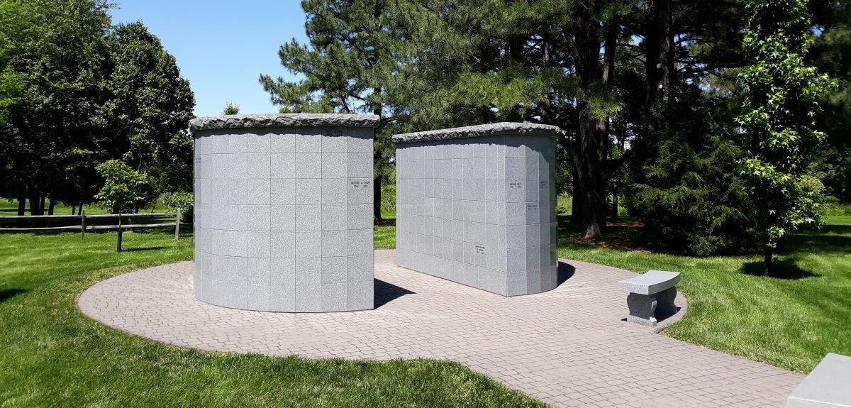 Pre-Assembled Eclipse and Canterbury Columbaria Exterior - Catholic Church