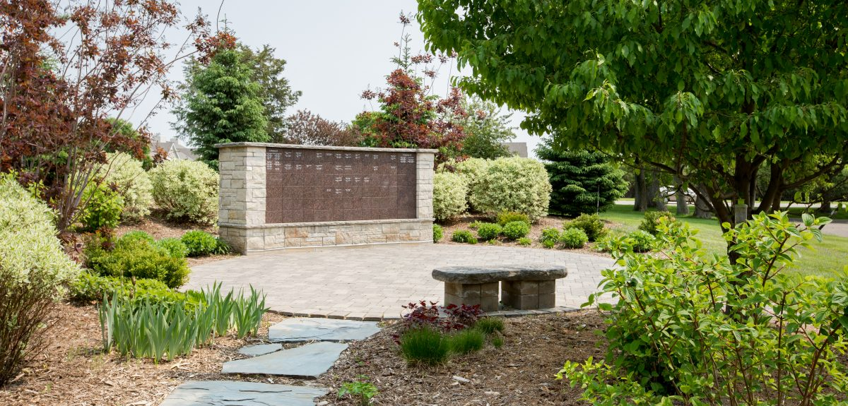 Exterior Custom Wall Columbarium - Church