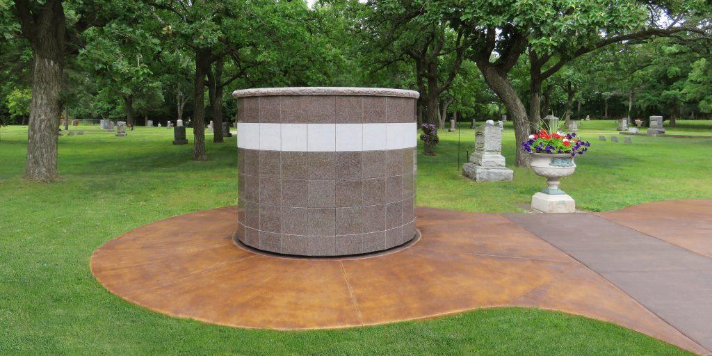 Exterior Pre-Assembled York Ossuarium - Cemetery